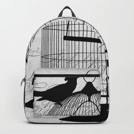 Gothic Bird cage | Goth aeshetics | Birds | Cage | Gothic vintage Backpack