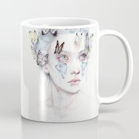 agnes cecile Mugs featuring love and sacrifice by agnes-cecile