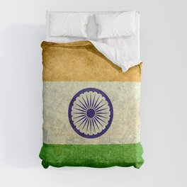 Flag of India - Grungy Vintage Comforters