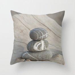 Zen pebbles stack Throw Pillow
