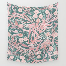 Tropical Daydream Blush Green Wall Tapestry