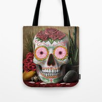 flora Tote Bags featuring Flora by SugarSugar