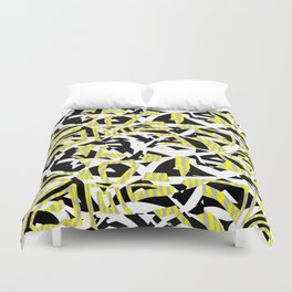 Prickly Contrast Ragged Flaps Duvet Cover