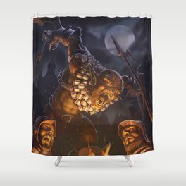 Goblin massacre Shower Curtain