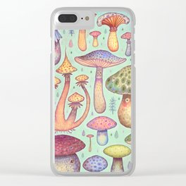 Fun, Fun, Fungi Clear iPhone Case