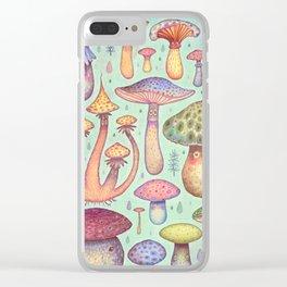 Fun, Fun, Fungi Clear iPhone Case