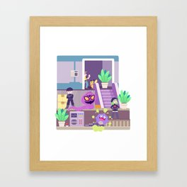 Tiny Worlds - Rocket HQ Framed Art Print