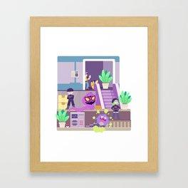 Tiny Worlds - Rocket HQ Framed Art Print