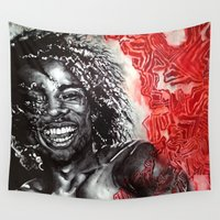 africa Wall Tapestries featuring Africa by Lucy Schmidt Art