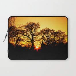 Tree with Sunset Laptop Sleeve