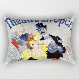 1897 Masquerade ball Paris Opera Rectangular Pillow