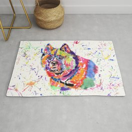 Akita in a spectrum of colour Rug