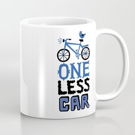 One Less Car Coffee Mug