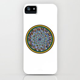 Free Hand Mandala in Circles iPhone Case