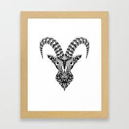 Black Goat Framed Art Print