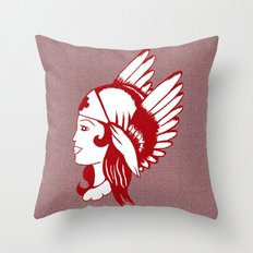 Angel of Mercy, Traditional American Tattoo Design Throw Pillow