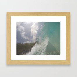 rippled glass Framed Art Print