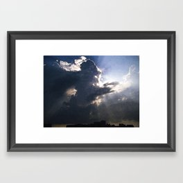 Storm Over The Hippodrome Framed Art Print