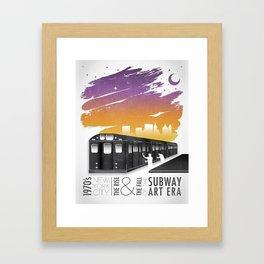 The Subway Art Era Framed Art Print