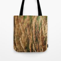grass Tote Bags featuring grass by Artemio Studio