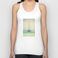 eiffel Tank Tops featuring The Eiffel Tower by Metron