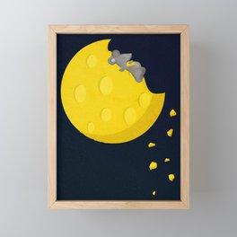 """If I could take a mouse to the moon…"" Framed Mini Art Print"