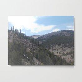 Blue Skies and Mountain Edges Metal Print