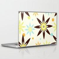 70s Laptop & iPad Skins featuring 70s flowers by Keyweegirlie