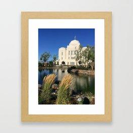 Meridian, ID LDS Temple Waving Grass Framed Art Print