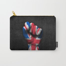 Union Jack Flag of The United Kingdom on a Raised Clenched Fist Carry-All Pouch