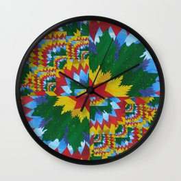 math book paper- painted and made into a collage by catherine jacobs cathy art Wall Clock