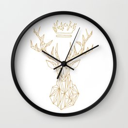 The Heir of Ash and Fire Terrasen Golden Stag Wall Clock