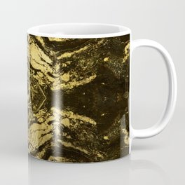All Seeing eye golden texture on aged wood Coffee Mug
