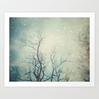 poem Art Prints featuring Winter Poem  by Laura Ruth