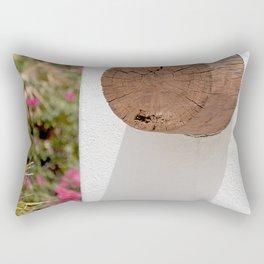 Modern Sante Fe Wall Art With Backyard Garden Rectangular Pillow