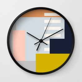 Carson Abstract Geometric Print in Multi Wall Clock