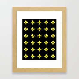 Fleur de lys 4-lis,lily,monarchy,king,queen,monarquia. Framed Art Print