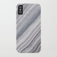 geology iPhone & iPod Cases featuring Grey Marble by Santo Sagese