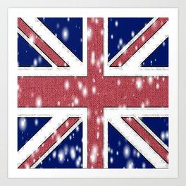 STARRY BRIT FLAG Art Print