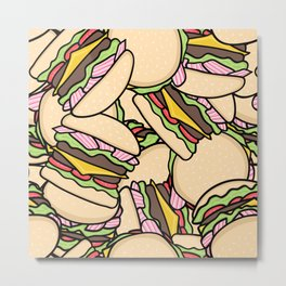 Burgers! Metal Print