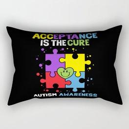Autism Awareness Acceptance Is The Cure Rectangular Pillow