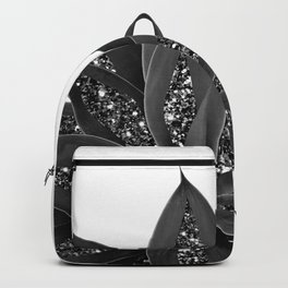 Gray Black Agave with Black Silver Glitter #1 #shiny #tropical #decor #art #society6 Backpack