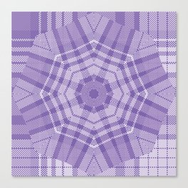 ultra violet Plaid On Plaid Canvas Print