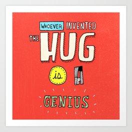 Mr. Hug Art Print