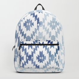 Indigo Ikat Print 3 Backpack