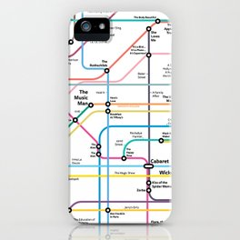 The Broadway Musical History Subway Map iPhone Case