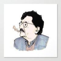 kurt vonnegut Canvas Prints featuring Kurt by JT Illustrates