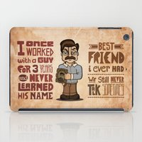 ron swanson iPad Cases featuring Ron Swanson 3 by maykel nunes