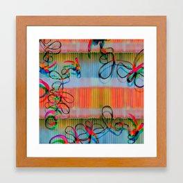 Abstract Ribbon Framed Art Print