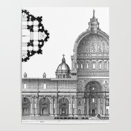 St. Peter Basilica - Rome, Italy Poster